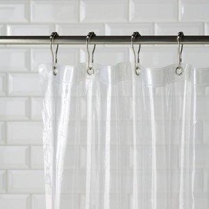 The Same Set Of Hooks Can Be Used For Your Liner And Curtain